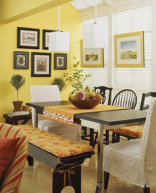 Interior decorating style tips for your home for Yellow dining room decorating ideas