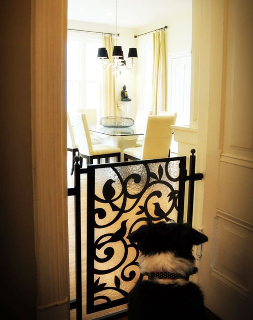 Pet gates 5 clever creative solutions for Indoor gate design