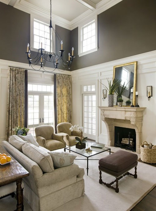 Ask the decorating files decorating tall walls for Living room ideas high ceilings