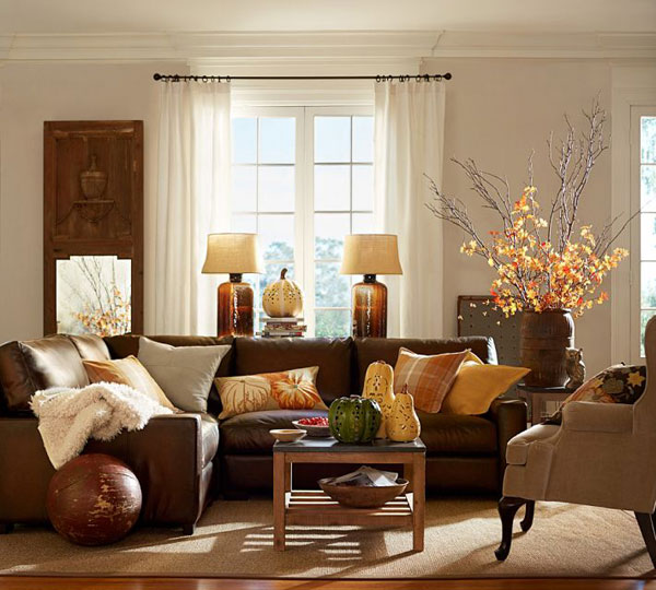 Fall Colors: Decor with Red, Orange, Gold & Brown