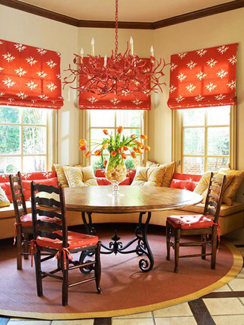 Fall Colors Decor With Red Orange Gold Brown