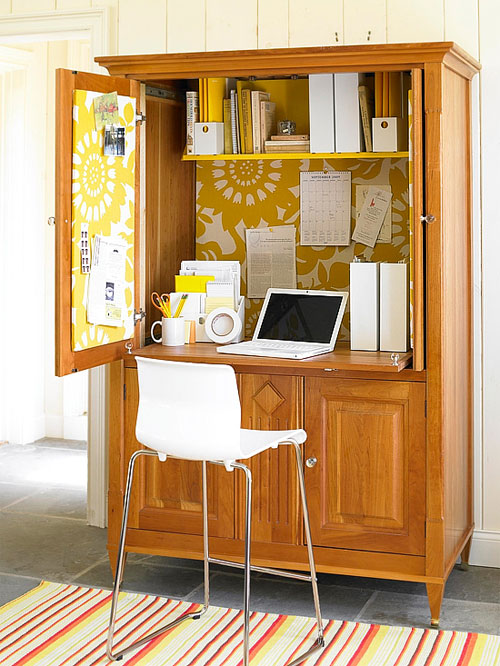 Home Office Ideas: Conceal it in an Armoire