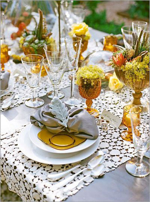Tabletop Tuesday: Thanksgiving Table Settings