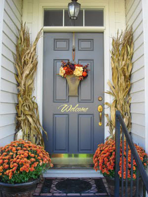10 entryway ideas that celebrate fall in style Small front porch decorating ideas for fall
