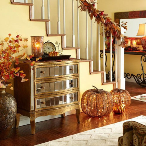Entryways decorated for fall home decoration club for Decorating your foyer