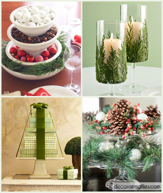 Christmas table decorations ideas easy
