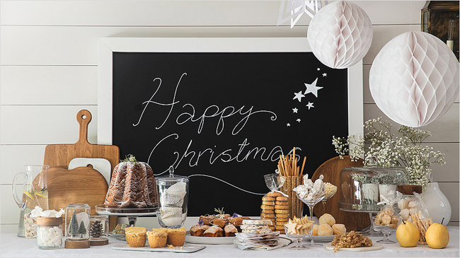 10 christmas buffet table decorating ideas - Interesting tables capes for christmas providing cozy gathering space ...