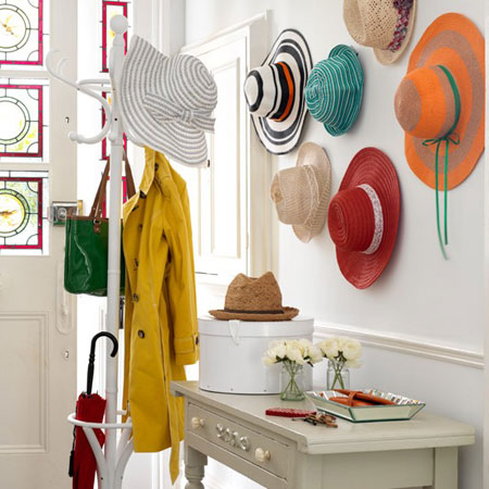 Organize accessories with these 28 clever ideas for Hat hanging ideas