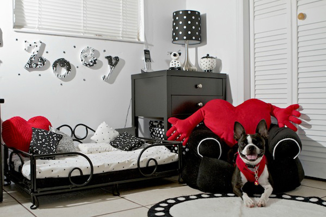 8 adorable designer spaces for dogs. Black Bedroom Furniture Sets. Home Design Ideas