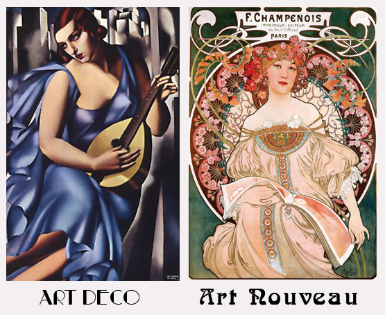 Art Deco or Art Nouveau? How to Tell Which is Which