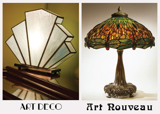 art deco or art nouveau how to tell which is which. Black Bedroom Furniture Sets. Home Design Ideas
