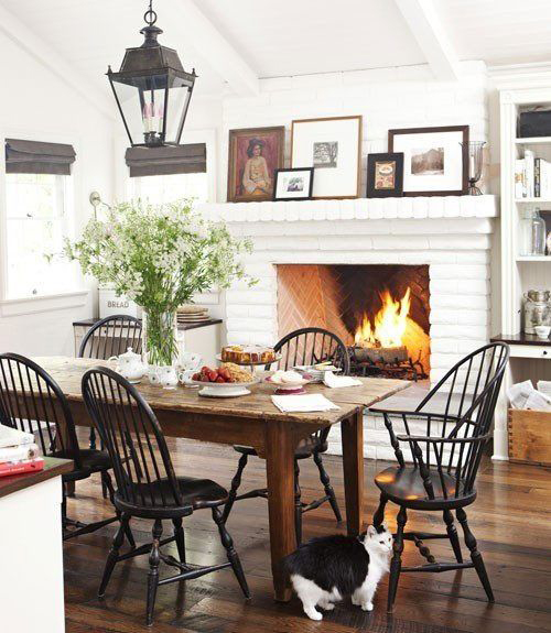 dining rooms with fireplaces - the decorating files