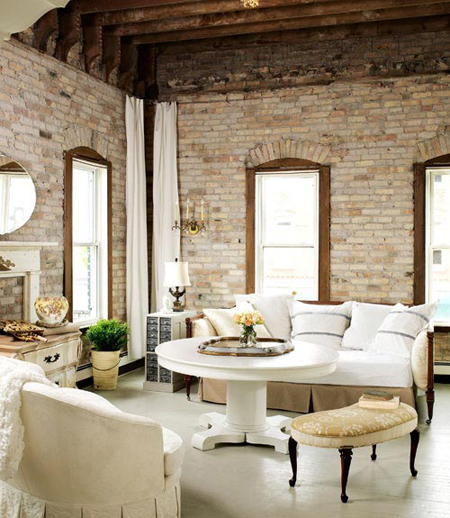23 Elegant Living Room With Exposed Brick Wall: Exposed Brick: 10 Great Spaces