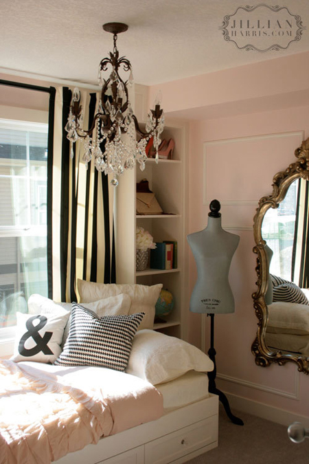 10 fabulous teen room decor ideas for girls - Pink white and gold bedroom ideas ...