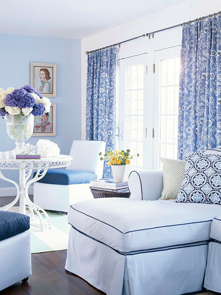Blue Monochromatic Color Scheme decorating in a monochromatic color scheme