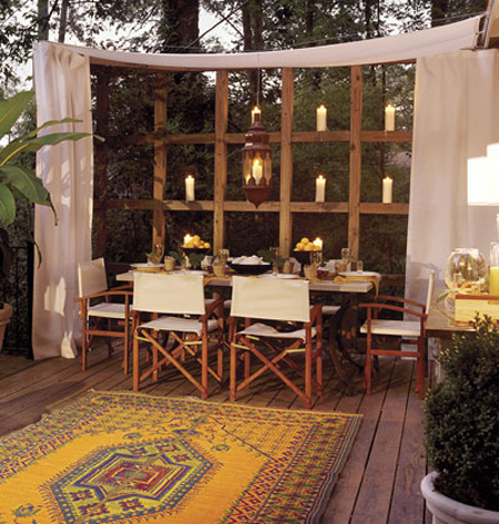 Outdoor spaces 10 ideas for creating privacy for Cheap patio privacy ideas