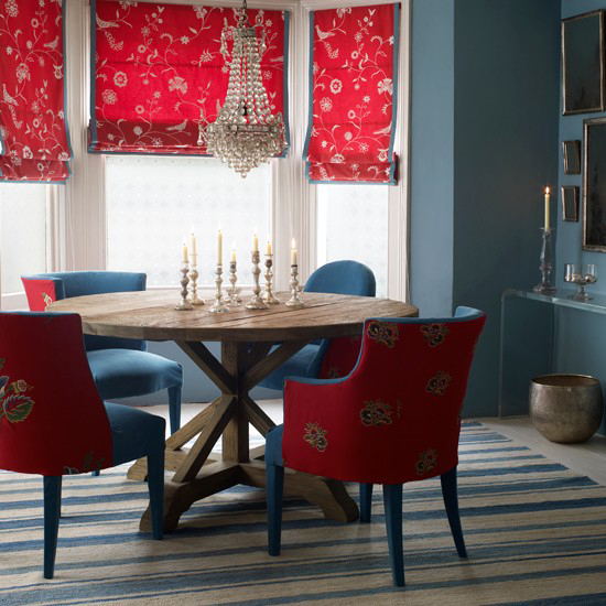 Red White And Blue Room Fair With Red and Blue Dining Room Images