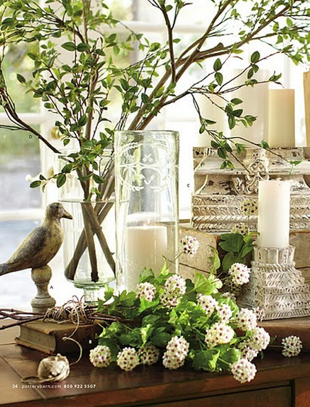 Vignette decorating ideas for spring the decorating files - Plant decorating ideas tasteful nature ...