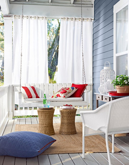 Front porch ideas that say welcome the decorating files for Outside design ideas