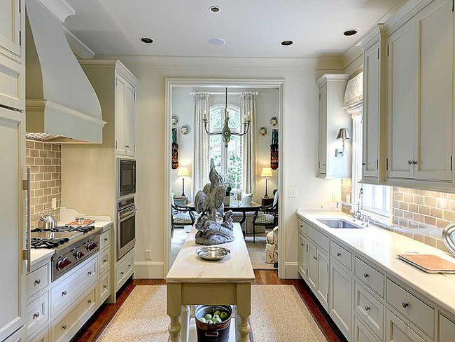 Galley kitchens that rock the decorating files - Long galley kitchen ideas ...
