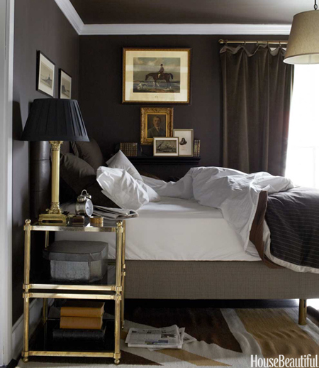 Bedroom design with a masculine vibe the decorating files - Masculine bedroom design ...