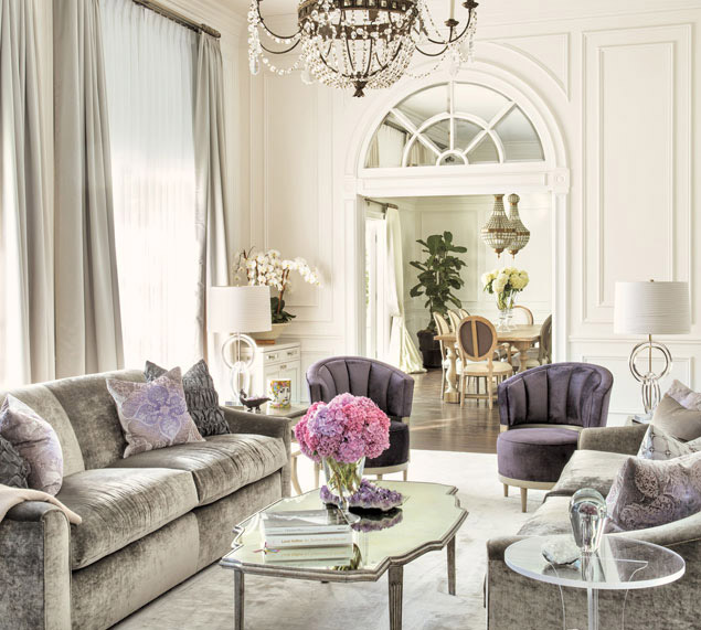 9 Glamorous Living Room Designs: Home Tour: French Charm Meets Hollywood Glamour