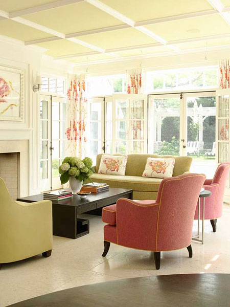 pink and green living room decorating with pink it s not just for 21847