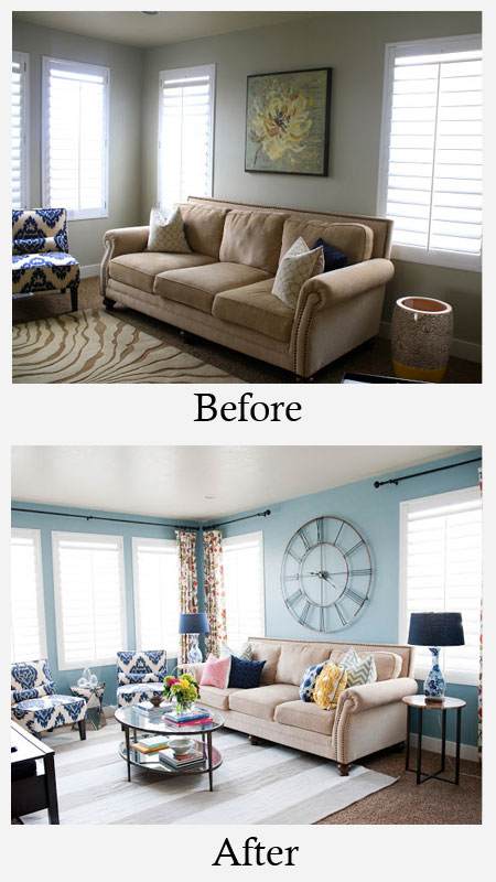Small Space Living Room Makeover Before and After | Home ...