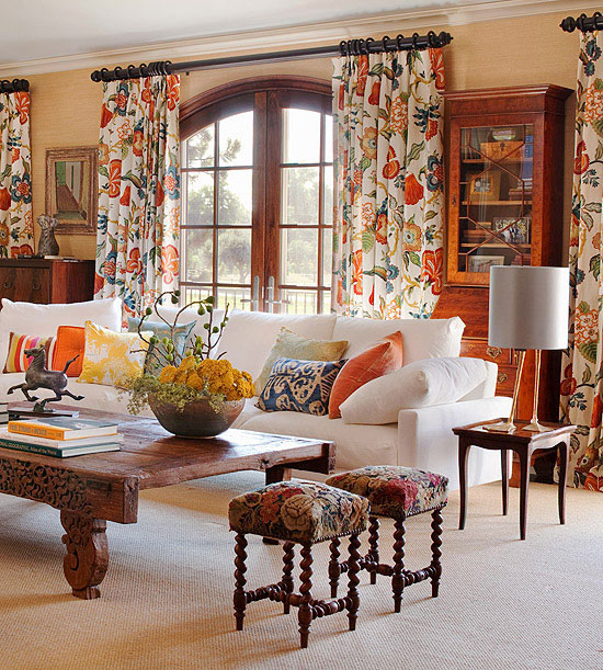 20 Ways To Decorate With Orange And Yellow: Mixing Patterns: How To Decorate Like A Pro