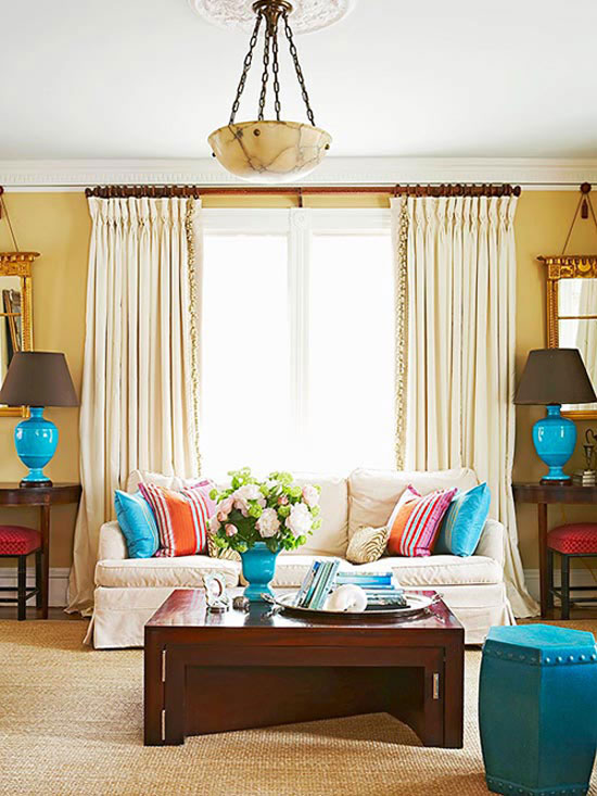 where to hang pictures in living room how to hang curtains amp window treatments 27823