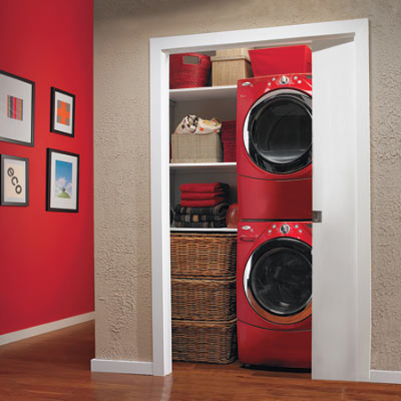 10 ideas for when your laundry room is a closet Laundry Room Closet