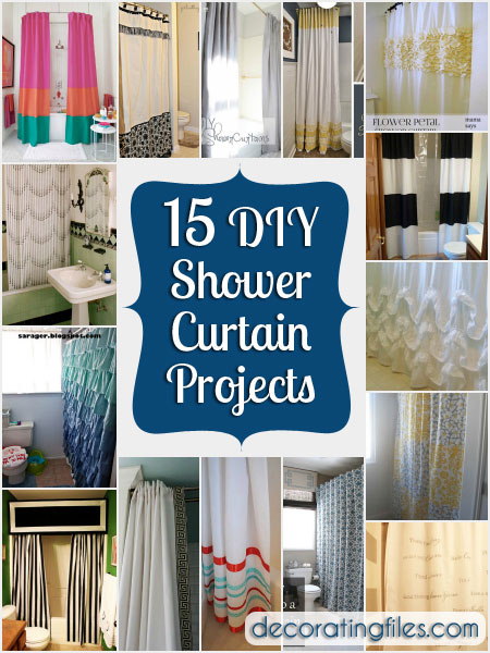 15 Diy Shower Curtain Projects Anyone Can Make Decorating Files Diyshowercurtain