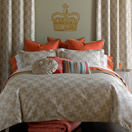 A Pattern With Character Decorating With Houndstooth